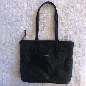 Lucky🍀Brand Black Leather Tote shoulder Bag